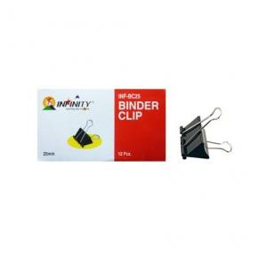 Infinity Binder Clips 25mm (Pack Of 12 Pcs)