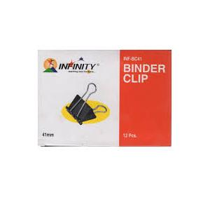 Infinity Binder Clips 41mm (Pack Of 12 Pcs)