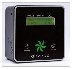 Airveda Indoor Air Quallity Monitors 10 Pm CO2,  PM2510CTH