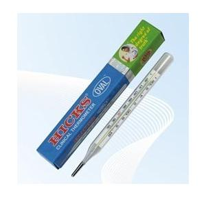 Hicks Oval Clinical Thermometer, O-01