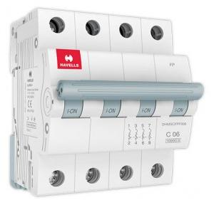 Havells 63A 3P+N C-Curve AC MCB, DHMGCTNF063