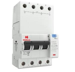 Havells 25A 3P+N 4M 300 mA A Type RCBO, DHCEACTN4300025