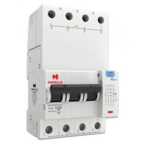 Havells 10A 3P+N 4M 300 mA A Type RCBO, DHCEACTN4300010