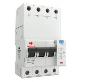 Havells 6A 3P+N 4M 300 mA A Type RCBO, DHCEACTN4300006