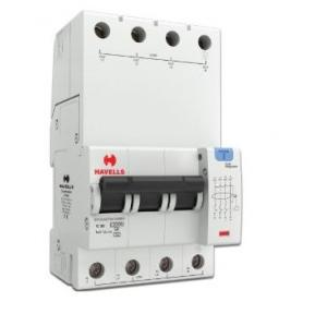 Havells 20A 3P+N 4M 100 mA A Type RCBO, DHCEACTN4100020