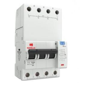 Havells 16A 3P+N 4M 100 mA A Type RCBO, DHCEACTN4100016