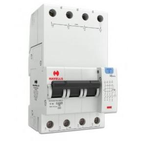 Havells 10A 3P+N 4M 100 mA A Type RCBO, DHCEACTN4100010