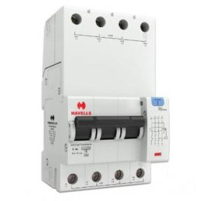 Havells 16A 3P+N 4M 30 mA A Type RCBO, DHCEACTN4030016