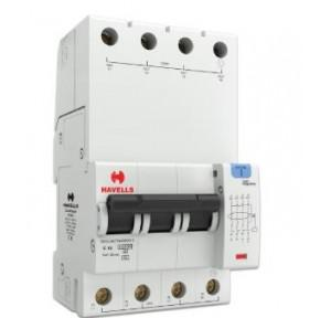 Havells 10A 3P+N 4M 30 mA A Type RCBO, DHCEACTN4030010