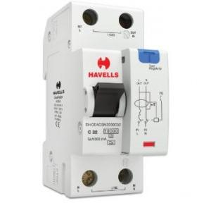 Havells 32A SPN-2M 300 mA A Type RCBO, DHCEACSN2300032