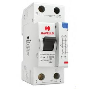 Havells 25A SPN-2M 300 mA A Type RCBO, DHCEACSN2300025