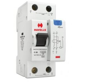 Havells 20A SPN-2M 300 mA A Type RCBO, DHCEACSN2300020