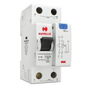 Havells 16A SPN-2M 300 mA A Type RCBO, DHCEACSN2300016
