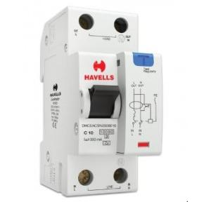 Havells 10A SPN-2M 300 mA A Type RCBO, DHCEACSN2300010