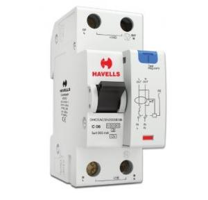 Havells 6A SPN-2M 300 mA A Type RCBO, DHCEACSN2300006