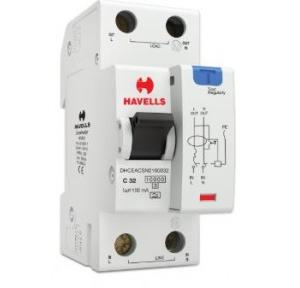 Havells 32A SPN-2M 100 mA A Type RCBO, DHCEACSN2100032