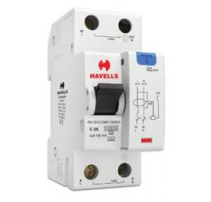 Havells 25A SPN-2M 100 mA A Type RCBO, DHCEACSN2100025