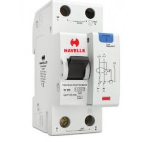 Havells 20A SPN-2M 100 mA A Type RCBO, DHCEACSN2100020