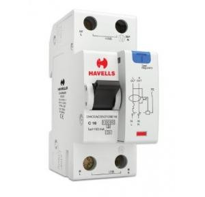 Havells 16A SPN-2M 100 mA A Type RCBO, DHCEACSN2100016
