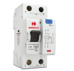 Havells 6A SPN-2M 100 mA A Type RCBO, DHCEACSN2100006