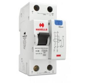Havells 20A SPN-2M 30 mA A Type RCBO, DHCEACSN2030020