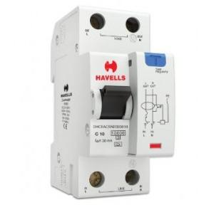 Havells 10A SPN-2M 30 mA A Type RCBO, DHCEACSN2030010
