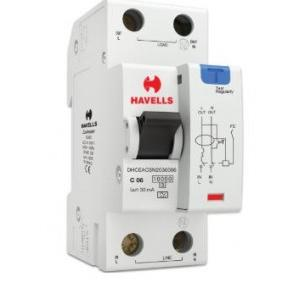 Havells 6A SPN-2M 30 mA A Type RCBO, DHCEACSN2030006