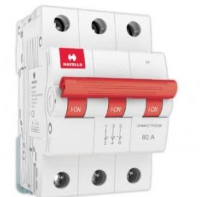 Havells 80A 3P Isolator, DHMGITPX080