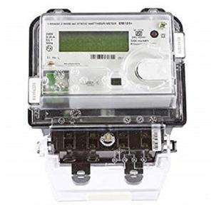 L&T 1P LCD Metering Device 5-30 A with Optical Port And Box, WM101BC5DDHBOX
