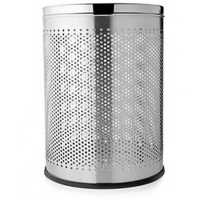 ZIH SS 202 Perforated Dustbin Stain Polished, 8x12 Inch