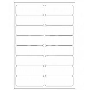 Novajet A4 Size  Address Sticker (16 slips), Pack Of 100