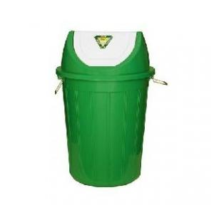 Plastic Swing Dustbin Green, 100 Ltr