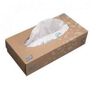 Kimberly Clark Scott 2 Ply Facial Tissue Box, 16x21cm, 100 Sheets, 1120