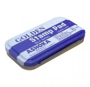 Golden Medium Stamp Pad, 110x69 mm (Blue)