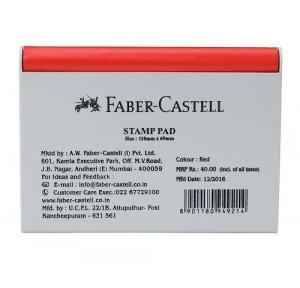 Faber Castell Stamp Pad, 110x69 mm (Red)