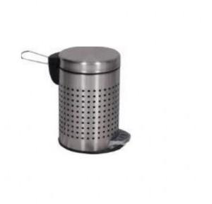 ZIH SS Perforated Peddle Bin 8x13 Inch, 7 Ltr