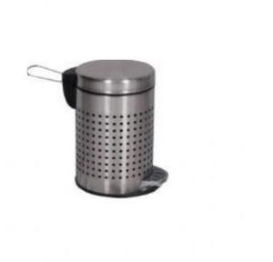 ZIH SS Perforated Peddle Bin 7x11 Inch, 5 Ltr