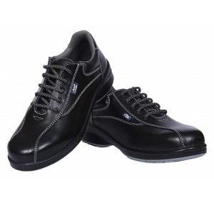 Allen Cooper AC-1299 Black Double Density Women Safety Shoes, Size: 10