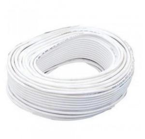Finolex RG59 0.15 Sqmm 1+6 Core CCTV Cable, 90 Mtr (White)