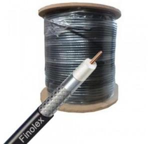 Finolex RG 11 Copper Clad Aluminium Conductor Jelly Coaxial Cable, 100 Mtr (Black)