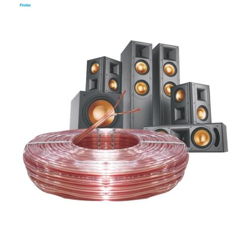 Finolex 0.75 Sqmm Speaker Cable, 100 Mtr (Transparent)