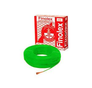 Finolex 4 Sqmm 1 Core FR PVC Insulated Unsheathed Industrial Cable, 180 Mtr (Green)