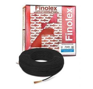 Finolex 4 Sqmm 1 Core FR PVC Insulated Unsheathed Industrial Cable, 180 Mtr (Black)