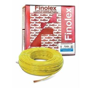 Finolex 1.5 Sqmm 1 Core FR PVC Insulated Unsheathed Flexible Cable, 90 Mtr (Yellow)