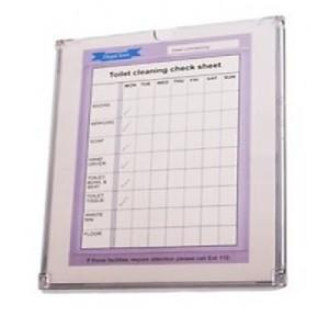 Checklist Holder Heavy Duty Acrylic Clear Plastic A4 Size, Thickness: 2.8mm
