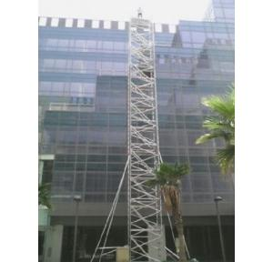 Mobile Scaffold Platform Tower With Stabiliser Type of Platform Aluminium Alloy 10 gauge thickness with 1.5 inch pipe, Platform Size: 1.35x1.8 mtr, Platform Height: 7mtr, Overall Height:  8mtr, Working height approx 9mtr With Stairs