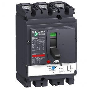 Schneider MPCB With Magnetic Trip Unit MA type Compact NSXm 100A 3 Pole 36kA, LV429740