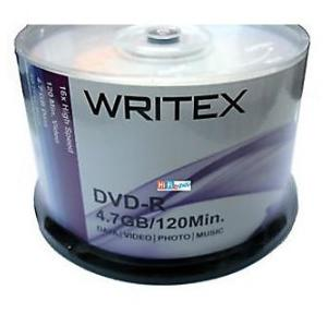 Writex DVD-R 4.7GB (Pack of 100 Pcs)