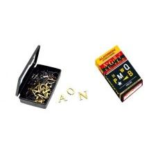 Alkosign Plastic Golden Letters 24 mm, ASL-G/24 (Set of 112)