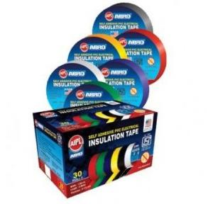 AIPL Abro PVC Electrical Insulation Tape, 0.125mm x 18mm x 8 mtr (Black)